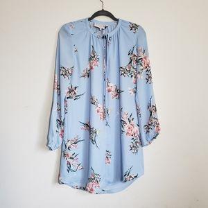 Light blue, floral dress